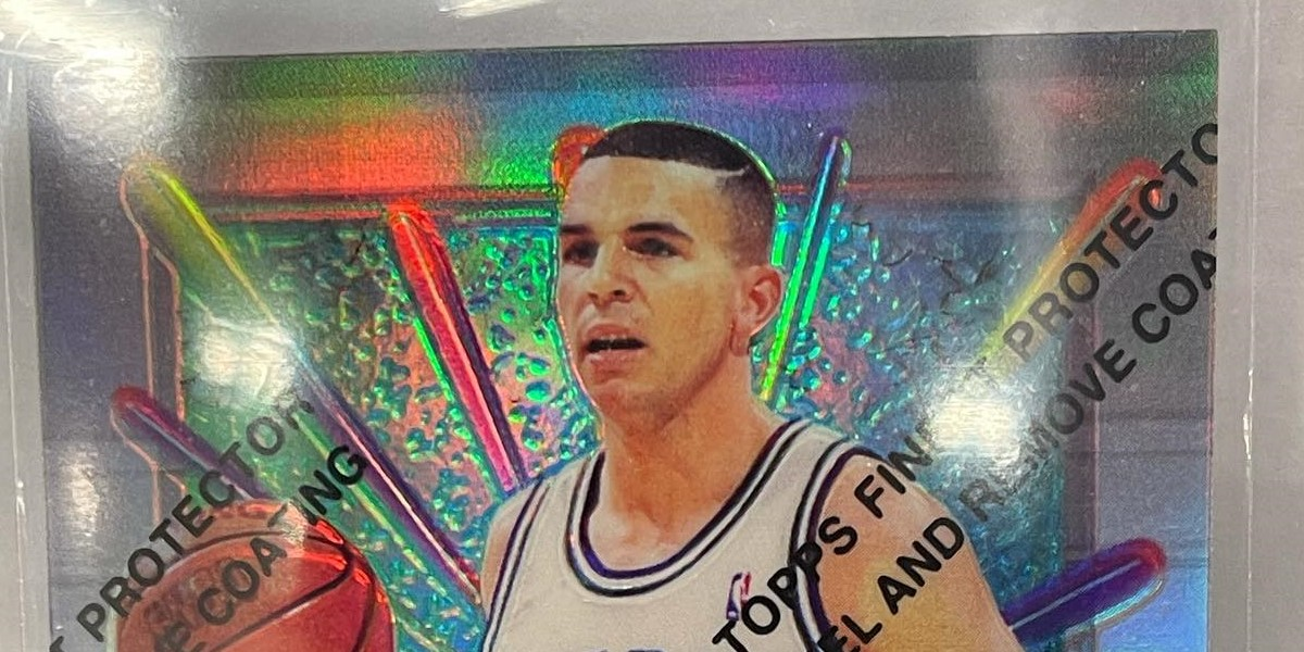 1994 Finest Refractor Jason Kidd Rookie Pulled From Pack [VIDEO]