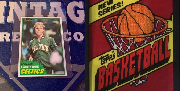 Second-Year Larry Bird Pulled in 1981 Topps Basketball Wax Pack Break