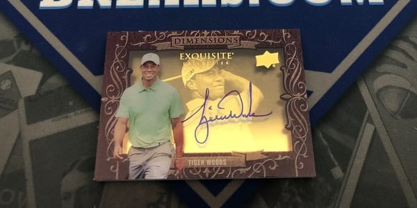 Tiger Woods Exquisite Dimensions Autograph Pulled By Vintage Breaks