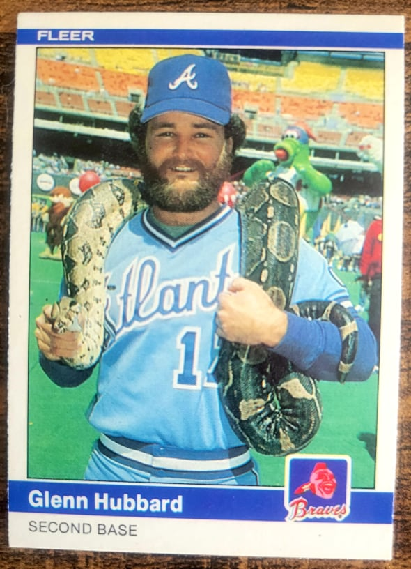 The Fun Behind the 1984 Fleer Baseball Glenn Hubbard Snake Card