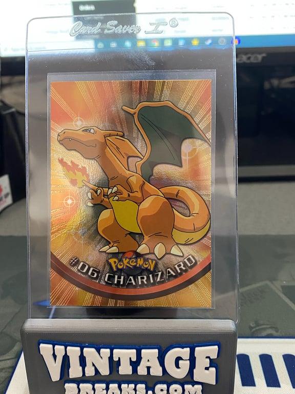 Foil Charizard 1999 Topps Pokémon TV Animation Pulled by Vintage Breaks
