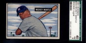 1951 Bowman Baseball Set Break Featuring Mickey Mantle Rookie is LIVE